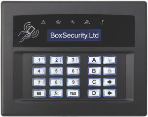 Surface or Flush Mount Keypad Black