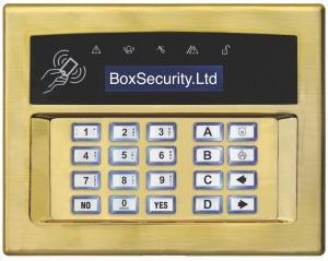 Surface or Flush Mount Keypad - Gold