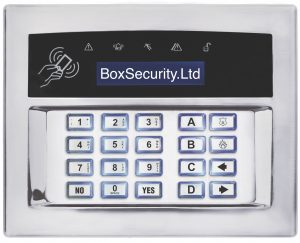 Surface or Flush Mount Keypad - Shiny Chrome
